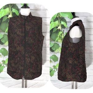 J. Jill Paisley Heritage Quilted Vest
